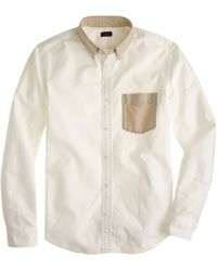 J.Crew Slim Vintage Oxford Shirt with Contrast Trim - Lyst