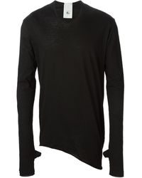 Lost & Found Black Longsleeved T-Shirt - Lyst