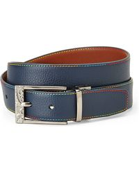 Robert Graham Victor Reversible Leather Belt - Lyst