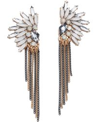 Adia Kibur Crystal Fringe Earrings - Lyst