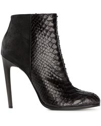 Haider Ackermann Snakeskin Effect Ankle Boots - Lyst