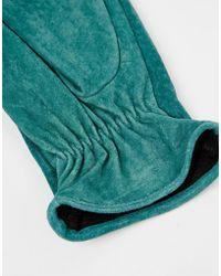 Pieces - Suede Gloves - Lyst