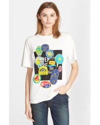 Opening Ceremony 'Fruit Sticker' Cotton Tee white - Lyst