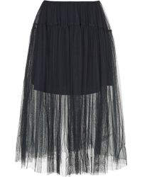 Topshop Layered Mesh Prom Skirt - Lyst