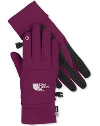 The North Face Purple Etip Gloves - Lyst