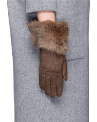 Georges Morand - Rabbit Fur Cuff Suede Gloves - Lyst