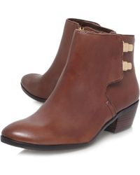 Sam Edelman Brown Peter Leather Ankle Boots - Lyst