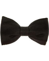 Lanvin Knitted Silk Bow Tie - Lyst