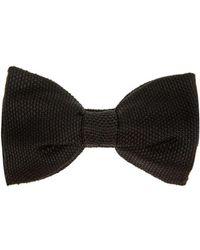 Lanvin Knitted Silk Bow Tie - Lyst