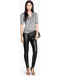 H&M Imitation Leather Trousers - Lyst