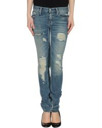 RRL - Denim Pants - Lyst
