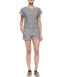 Alice + Olivia - Striped Classic Shorts - Lyst