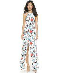 Thakoon Floral Split Side Gown - Multi - Lyst