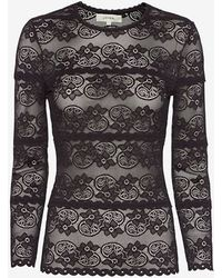 Lover   Leia Fitted Lace Top: Black   Lyst