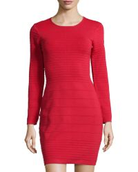 Betsey Johnson Ponte Long-Sleeve Dress - Lyst