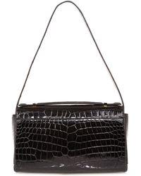 The Row Crocodile Shoulder Bag - Lyst