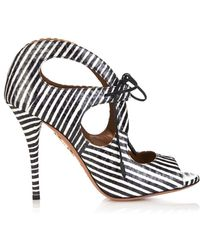 Aquazzura C'Est Chic Watersnake Sandals - Lyst