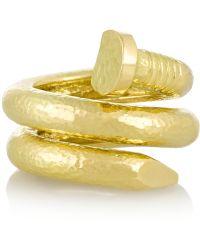 David Webb   Nail 18-Karat Gold Ring   Lyst