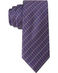 Calvin Klein Triplex Grid Skinny Tie - Lyst