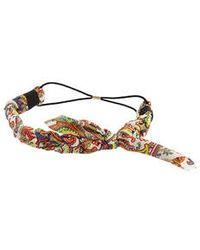 Topshop Paisley Plaited Headband pink - Lyst