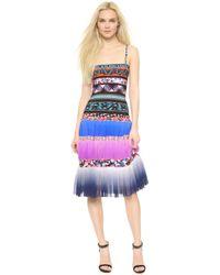 Jean Paul Gaultier Sleeveless Dress - Blue Multi - Lyst