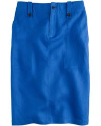 J.Crew Linen Cargo Pencil Skirt - Lyst