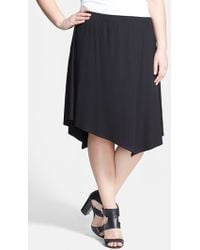 Eileen Fisher Asymmetrical Jersey Skirt - Lyst