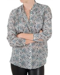 Sea Long Sleeve Paisley Button Up - Lyst