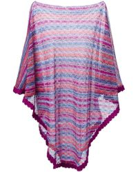 M Missoni Striped Cape Sweater - Lyst