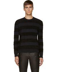 DSquared2 Black Angora Striped Sweater - Lyst