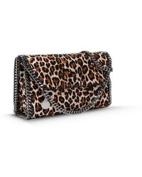 Stella McCartney Falabella Eco Leopard Print Mini Bag animal - Lyst