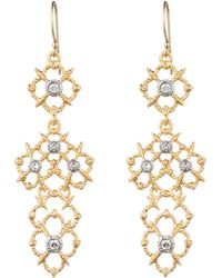 Alexis Bittar Gold Muse D'Or Lace Chandelier Earring - Lyst