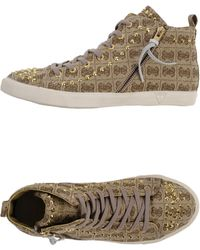 Guess High-Tops & Trainers brown - Lyst