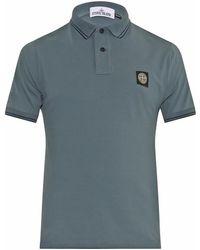 Stone Island Logo-patch Piqué Polo Shirt - Lyst