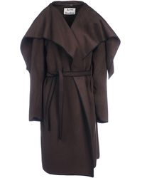 Acne Studios Brown Coat - Lyst