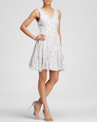 Rebecca Taylor Dress - V-Neck Dye In Frost Combo - Lyst