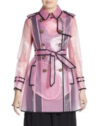 RED Valentino Pink Transparent Trenchcoat - Lyst