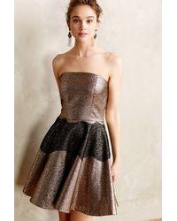 Sachin & Babi Foil Brocade Mini Dress - Lyst