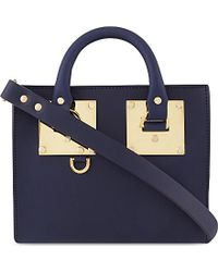 Sophie Hulme Mini Box Leather Albion Tote - For Women - Lyst
