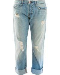 J Brand Real Boyfriend Roll Up Jeans - Lyst
