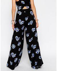 Asos Reclaimed Vintage Co-Ord Wide Leg Pants In Blue Floral Print - Lyst