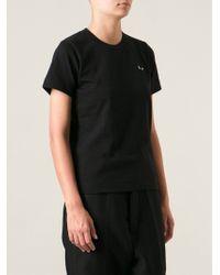 Comme Des Garçons Logo Patch Tshirt - Lyst