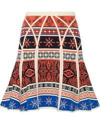 Diane von Furstenberg Samara Jacquard-Knit Skirt - Lyst