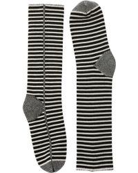 Haider Ackermann Striped Wool Long Socks - Lyst