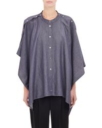 Maison Margiela Reversible Chambray Cape Top - Lyst