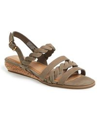 G.H.BASS - 'jolie' Leather Slingback Wedge Sandal - Lyst