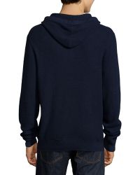 Neiman Marcus - Cashmere/cotton Pullover Drawstring Hoodie - Lyst