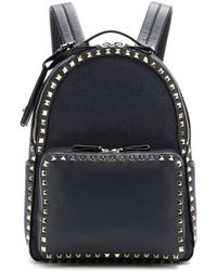 Valentino Viva Jacquard And Leather Backpack - Lyst