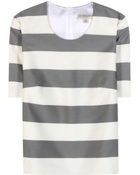 Burberry London Silk And Cotton-Blend Top - Lyst