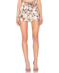 Lucca Couture - Scallop Hem Short - Lyst